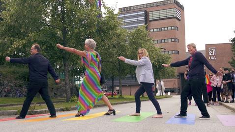 Thumbnail for entry Åpning av Norges første Pride-gangfelt ved UiA