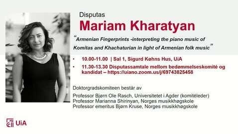 Thumbnail for entry Disputas - Mariam Kharatyan - Del 1