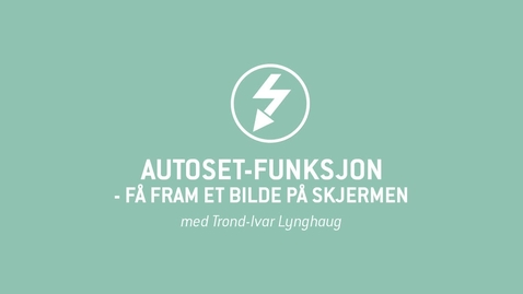 Thumbnail for entry Oscilloskop 05 - Autoset-funksjon - få fram et bilde på skjermen