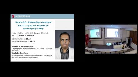 Thumbnail for entry Prøveforelesning - Harsha Sandaruwan Gardiyawasam Pussewalage