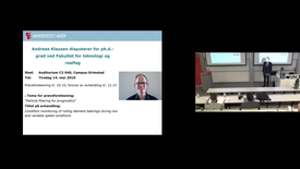 Thumbnail for entry Prøveforelesning Andreas Klausen «Particle filtering for prognostics» - 5/14/2019