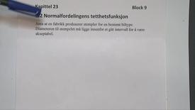 Thumbnail for entry Kapittel 23 9.2 Normalfordelingens tetthetsfunksjon