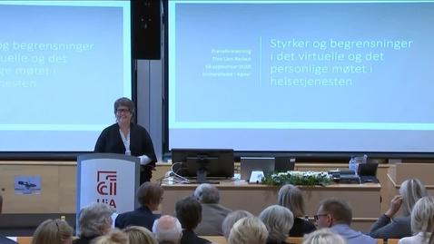 Thumbnail for entry Tina Lien Barken - Prøveforelesning - 2019-09-19