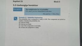 Thumbnail for entry Kapittel 23 5.5-1 Uavhengige hendelser - eksempler
