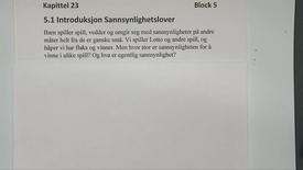 Thumbnail for entry Kapittel 23 5.1 Introduksjon Sannsynlighetslover
