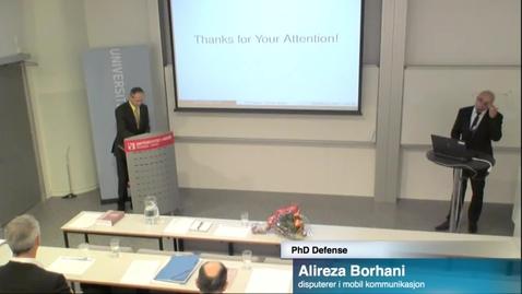 Thumbnail for entry PhD Defense Alireza Borhani part 2
