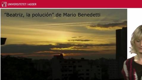 """Thumbnail for entry Preguntas de reflexión sobre """"Beatriz, la polución"""" de Mario Benedetti"""