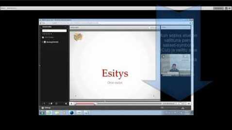 Thumbnail for entry Tallenteen hakeminen, jakaminen ja editoiminen Funet Tiimi Adobe Connectissa