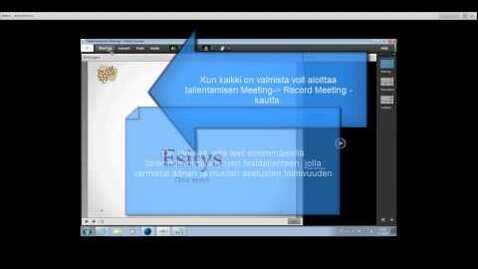 Thumbnail for entry Etäluennon tallentaminen Funet Tiimi Adobe Connectilla
