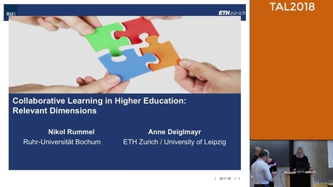 Keynote 1 TAL2018: Collaborative Learning in Higher Education: Relevant Dimensions