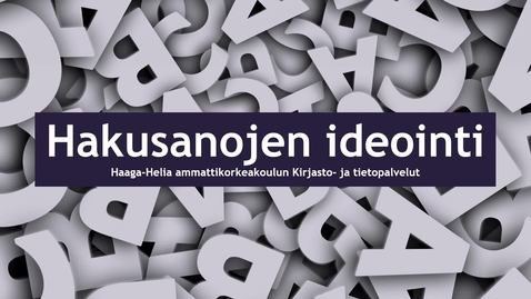 Thumbnail for entry Hakusanojen_ideointi