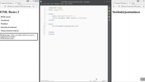 02 HTML Basics 2 (Login-lomake)