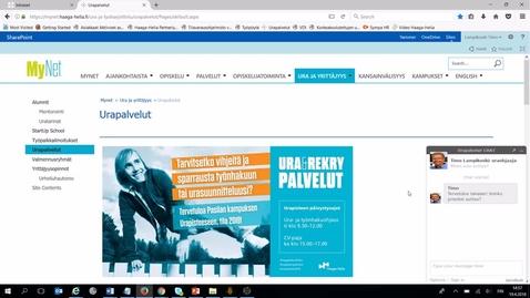 Thumbnail for entry Urapalvelut-sivuston esittely