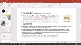 Thumbnail for entry PowerPoint-esityksen & selostuksen nauhoittaminen videoksi