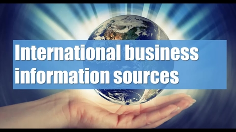 International business information (1/3): introduction