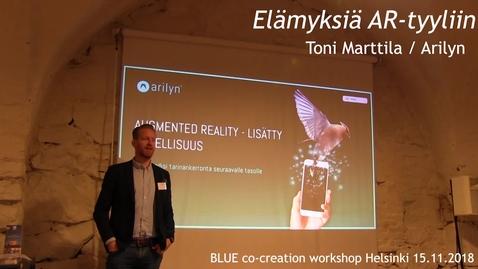 Thumbnail for entry BLUE co-creation Arilyn Helsinki 15.11.2018