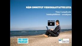 Thumbnail for entry Näin onnistut videohaastattelussa