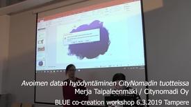 Thumbnail for entry Merja Taipaleenmäki Citynomadi Tampere WS Blue 6.3.2019