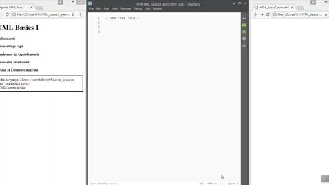 01 HTML Basics 1 (HTML-dokumentti)