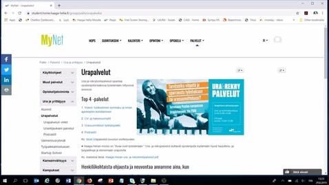 MyNetin Urapalvelut-sivuston esittely 2019