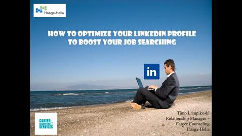 Thumbnail for entry How to Optimize Your LinkedIn Profile to Fasten Your Job Searching