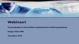 Thumbnail for entry Tunnetekoäly ja biometriikka kieltenopetuksessa