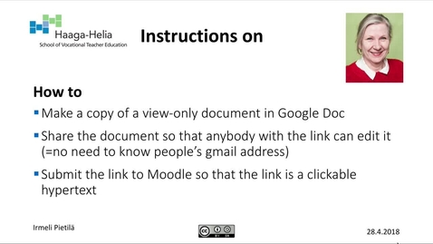 Thumbnail for entry How to: Make a copy of a Google Doc and get a shareable link