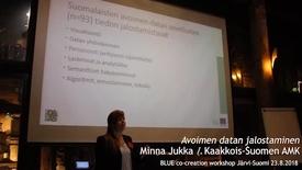 Thumbnail for entry Blue Minna Jukka, Kaakkois-Suomen amk: Avoimen datan jalostaminen WS1 Järvi-Suomi