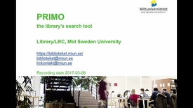 Thumbnail for entry Primo - the library's search tool