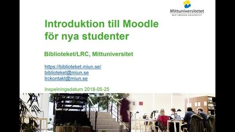 Thumbnail for entry Introduktion till Moodle för nya studenter