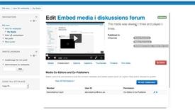Thumbnail for entry Ger lov att publicera eller redigera till en kollega.