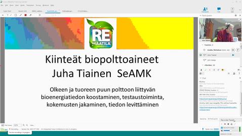 Thumbnail for entry Kiinteät biopolttoaineet