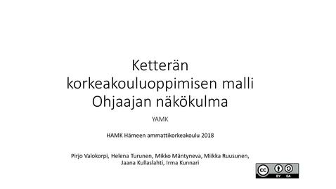 Thumbnail for entry Ketterä korkeakouluoppiminen ohjaajan näkökulmasta