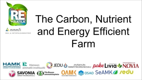 Thumbnail for entry Carbon, Nutrient and Energy Efficient Farm 2016-2018