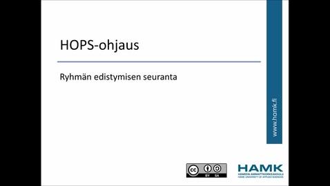 Thumbnail for entry Ohjaajan Peppi-ohjeet: HOPS-ohjaus ja ryhmän edistymisen seuranta
