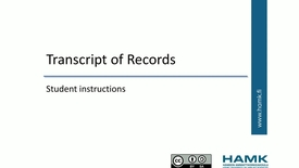Thumbnail for entry Pakki Student Instructions: Transcript of Records