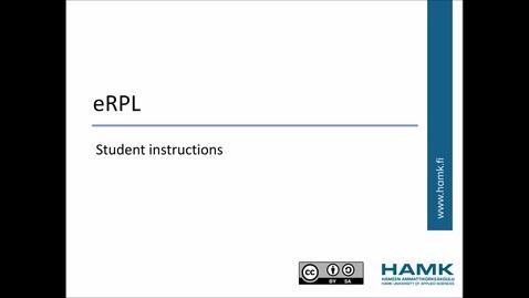 Thumbnail for entry Pakki Student Instructions: RPL