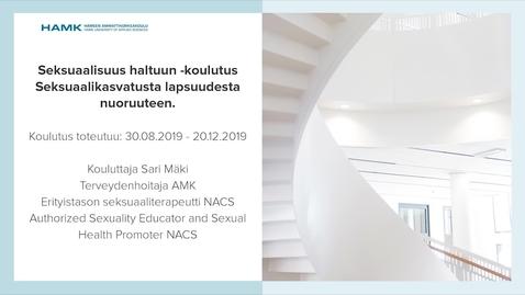 Thumbnail for entry Seksuaalisuus haltuun -koulutus
