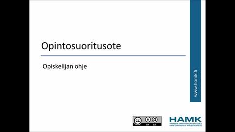 Thumbnail for entry Opiskelijan Pakki-ohjeet: Opintosuoritusote