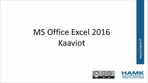 Thumbnail for entry Excel 2016:  kaaviot