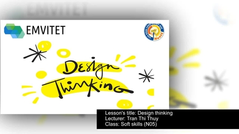Thumbnail for entry Design thinking at HUE IC