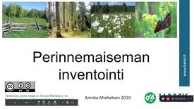 Thumbnail for entry Perinnemaiseman inventointi