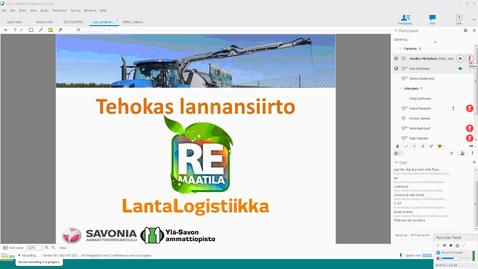 Thumbnail for entry Lantalogistiikan kehitysmahdollisuudet Pasi Eskelinen Savonia