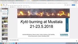 Thumbnail for entry Kytö burning