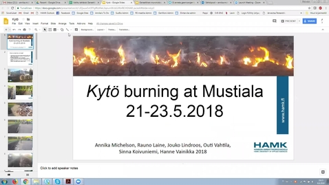 Thumbnail for entry Kytö burning