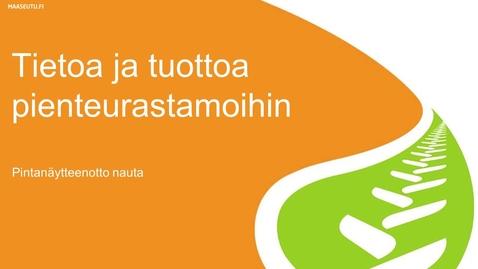 Thumbnail for entry Pintanäytteenotto nauta (Suomeksi)