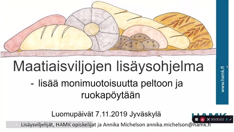 Thumbnail for entry Maatiaisviljojen lisäysohjelma