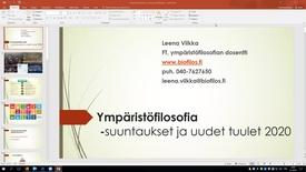 Thumbnail for entry Leena Vilkka Ympäristöfilosofia
