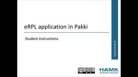 Thumbnail for entry Pakki Student Instructions: Exemption from language studies