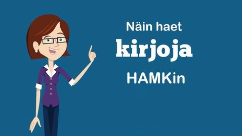 Thumbnail for entry Kirjojen hakeminen HAMKin Finnan avulla